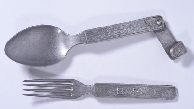 Vidlička + lžíce, vojenská?