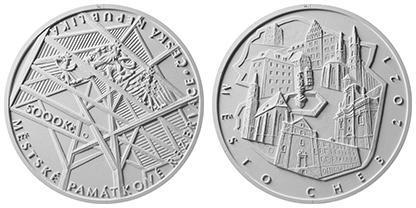 Zlatá mince ČNB 5000 Kč Cheb Proof  - Numismatika