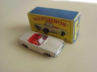 Matchbox RW Nr 27 MERCEDES-BENZ 230 SL + krabička