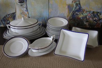 Starožitný porcelánový servis - značeno