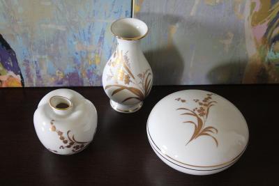 Porcelánový ručně malovaný set