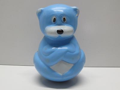Stará retro hračka - KOLÍBACÍ MEDVÍDEK