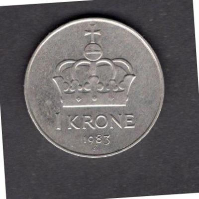 NORSKO : 1 Krone  1983