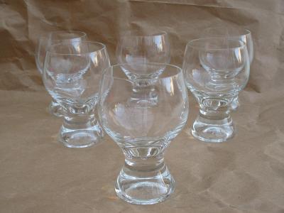 Retro skleničky na likér sada 6. kusů / výška 12 cm ČSSR