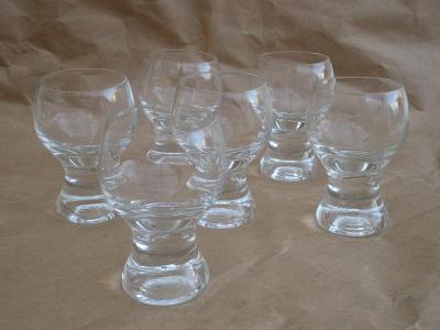 Retro skleničky na likér sada 6. kusů / výška 8 cm ČSSR