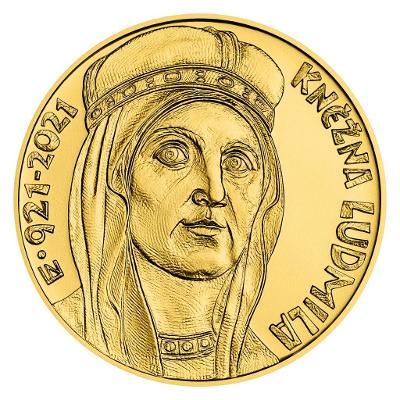 Zlatá mince 10000 Kč Kněžna Ludmila Proof