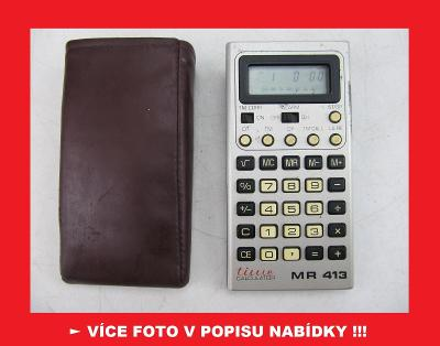 TESLA MR 413 - sbírková kalkulačka + hodiny / ČSSR