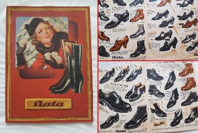 Starý reklamní katalog ceník Baťa Zlín 1937 obuv boty hračky punčochy