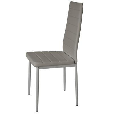tectake 401851 6 jídelních židlí, syntetická kůže - šedá