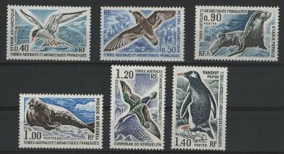 Francúzske Antarktické teritórium 1976**fauna komplet yt. 55-60 (80€)