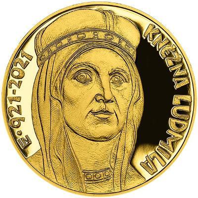 Zlatá mince 10.000 Kč Kněžna Ludmila 2021 Proof