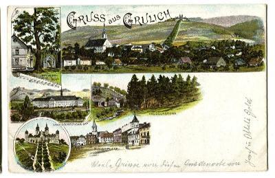 Králíky, Grulich, Ústí nad Orlicí, litografie
