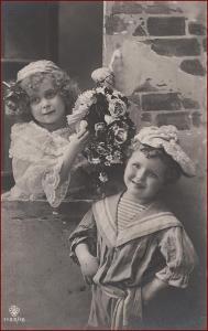 Děti * dvojice, květiny, gratulační, atelier foto * M5853