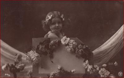 Děti * děvče, květiny, gratulační, atelier foto * M5880