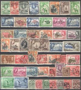 ANGLIE - KOLONIE - COLD COAST - GHANA - 50 ks ražených známek