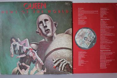 Queen – News Of The World LP 1977 vinyl UK 1.press super stav EX