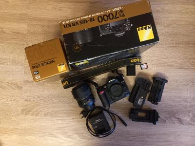 Nikon D7000 + 18-105mm + GRIP + 32GB karta