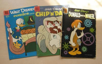 DELL * 3  komiksové sešity * Disney * Chip n Dale, Donald, Scamp ad.
