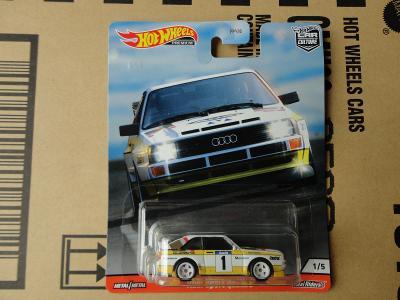 Hot Wheels Audi Sport quatro.Rozbaleno.Krabička je otevřena.