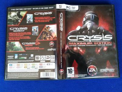 PC - CRYSIS MAXIMUM EDITION, CRYSIS+WARHEAD+WARS - CZ (retro 2009)Top