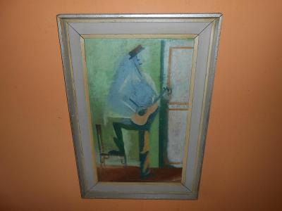 Obrazy z pozůstalostí-Překrásné staré dílo-Mrkvička !!!!!!!!!!!!!!!!!!
