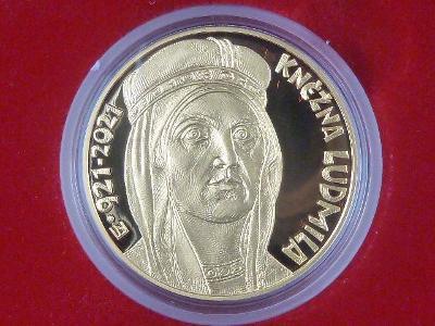 Zlatá mince 10.000 Kč Ludmila proof