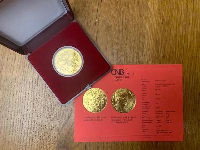 1 OZ Zlatá mince 10.000,- 1100. výročí úmrtí kněžny Ludmily BK