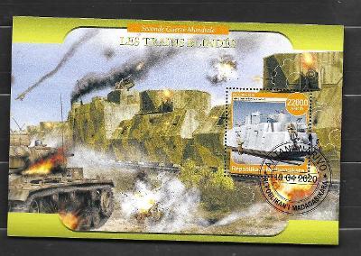 Madagaskar - druhá světová válka - obrněný vlak SSSR i německý; tank