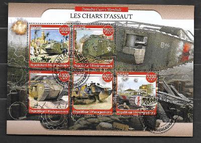 Madagaskar-první světová válka- tanky Mark, Schneider, Sturmpanzer A7V