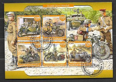 Madagaskar - druhá světová válka-motocykly Rikuo, BSA, Zündapp, Harley