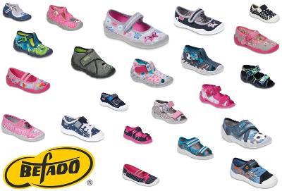 Dětské bačkory, plátěnky, balerinky, sandály, tenisky BEFADO vel.18-36