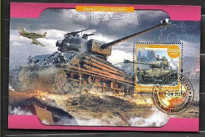 Madagaskar - druhá světová válka - americký tank M-26 Pershing