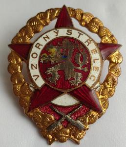 Vojenský odznak ČSR z 50. let - Vzorný střelec