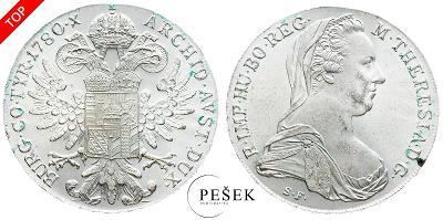 🔥 (Z512) Marie Terezie, Levantský Tolar, Novoražba (Ag 833/1000, 28g)