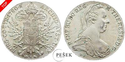 🔥 (Z513) Marie Terezie, Levantský Tolar, Novoražba (Ag 833/1000, 28g)