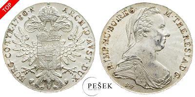 🔥 (Z514) Marie Terezie, Levantský Tolar, Novoražba (Ag 833/1000, 28g)