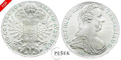 🔥 (Z518) Marie Terezie, Levantský Tolar, Novoražba (Ag 833/1000, 28g)