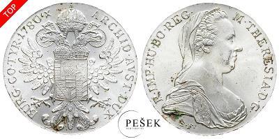🔥 (Z519) Marie Terezie, Levantský Tolar, Novoražba (Ag 833/1000, 28g)