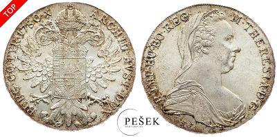 🔥 (Z520) Marie Terezie, Levantský Tolar, Novoražba (Ag 833/1000, 28g)
