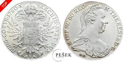 🔥 (Z521) Marie Terezie, Levantský Tolar, Novoražba (Ag 833/1000, 28g)