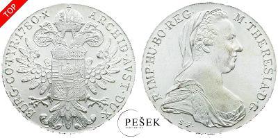 🔥 (Z523) Marie Terezie, Levantský Tolar, Novoražba (Ag 833/1000, 28g)