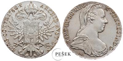 🔥 (Z524) Marie Terezie, Levantský Tolar, Novoražba (Ag 833/1000, 28g)