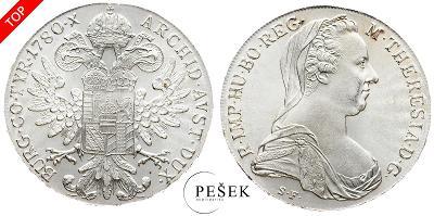 🔥 (Z530) Marie Terezie, Levantský Tolar, Novoražba (Ag 833/1000, 28g)
