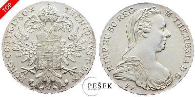 🔥 (Z531) Marie Terezie, Levantský Tolar, Novoražba (Ag 833/1000, 28g)