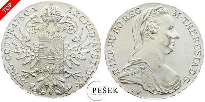 🔥 (Z532) Marie Terezie, Levantský Tolar, Novoražba (Ag 833/1000, 28g)