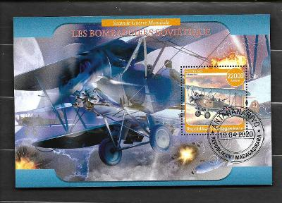Madagaskar- II. světová válka - sovětský bombardér Polikarpov Po-2