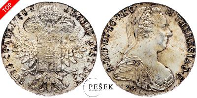 🔥 (Z543) Marie Terezie, Levantský Tolar, Novoražba (Ag 833/1000, 28g)