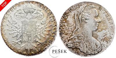 🔥 (Z544) Marie Terezie, Levantský Tolar, Novoražba (Ag 833/1000, 28g)