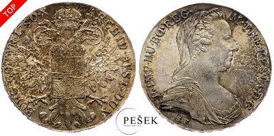 🔥 (Z545) Marie Terezie, Levantský Tolar, Novoražba (Ag 833/1000, 28g)