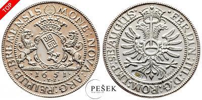 🔥 (Z550) Německo, 1651, Novoražba (Ag 999,9/1000, 7,176g)
